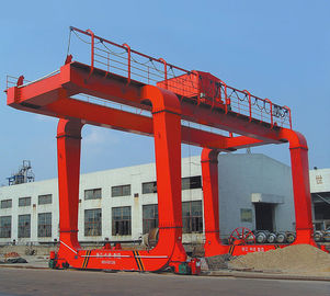 Electric Box Girder Gantry Crane for Construction Sites / 37t - 15m - 9m /